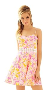 Lilly Pulitzer short dress Kir Royal Pink Ooh La La Lenore Cut-out Sundress Beach on Tradesy