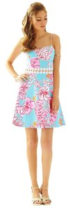 Lilly Pulitzer short dress Breakwater Blue Lolita With Sunglow Lenore Cut-out on Tradesy