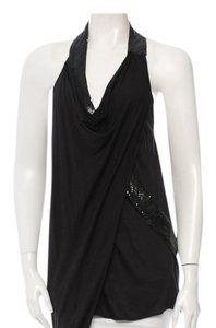 Haute Hippie Sexy Soft Embellished Top Black