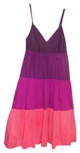 New York & Company short dress dark purple, burgandy, cranberry and coral on Tradesy