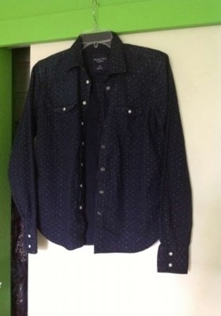 American Eagle Outfitters Button Down Shirt Dark blue