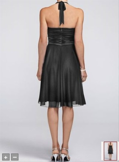 David's Bridal Black Satin Like Formal Dress Size 10 (M)