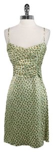 Tocca short dress Green/Tan/Brown Silk on Tradesy