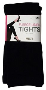 Mixit Black Fleece Lined Footless Tights By Mixit Size M / L