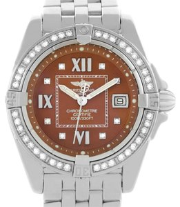 Breitling Breitling Windrider Cockpit Ladies Copper Diamond Dial Watch A71356