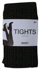 Mixit Dark Gray Mixit Sweater Tights Size XL Extra Large