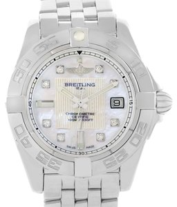 Breitling Breitling Windrider Cockpit Ladies Mother Pearl Diamond Watch A71356