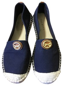 Talbots Blue and white Flats