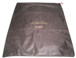 Kate Spade New Kate Spade Sleeper/ Dust Bag / Protective Cover 12 inch width x 13 inch length. Brown with Gold Logo Drawstring bag