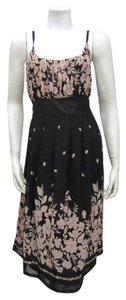 Uttam Boutique short dress Black Empire Waist Pleated Sleeveless on Tradesy