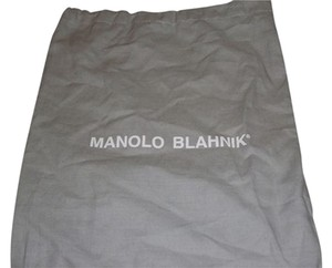 Manolo Blahnik New Manolo Blanhnik Sleeper/ Dust Bag/ Protective cover for Shoes or Purse Gray with White Logo Size: 14 Length 10inches width Draw string Bag.