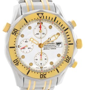 Omega Omega Seamaster Chronograph Steel Gold Watch 2398.20.00 Box Papers