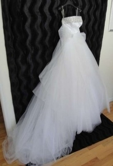Sottero and Midgley White Tulle Modern Wedding Dress Size 6 (S)
