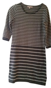 Banana Republic short dress Grey on grey stripe Date Night on Tradesy