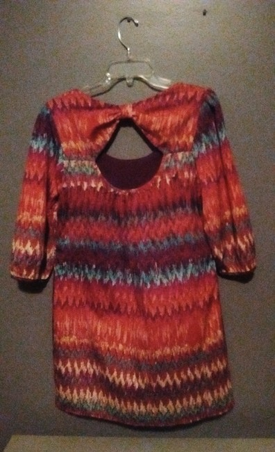 Lily Rose short dress Multi-Colored Colorful Shift Bow on Tradesy Image 1