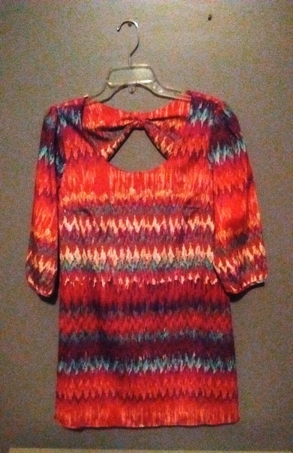 Lily Rose short dress Multi-Colored Colorful Shift Bow on Tradesy Image 3