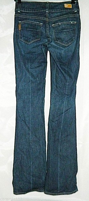 Paige Hidden Hills Size 24 New Boot Cut Jeans-Dark Rinse Image 1