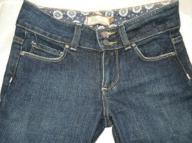 Paige Hidden Hills Size 24 New Boot Cut Jeans-Dark Rinse Image 2