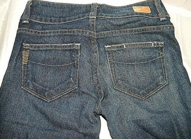 Paige Hidden Hills Size 24 New Boot Cut Jeans-Dark Rinse Image 3