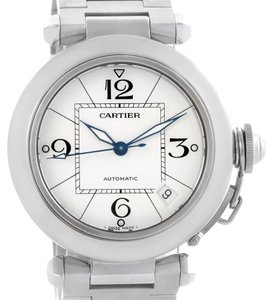 Cartier Cartier Pasha C Medium Automatic White Dial Steel Watch W31074M7