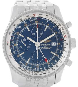 Breitling Breitling Navitimer World Chronograph Blue Dial Watch A24322 Papers