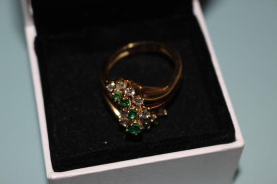 Black Starr and Frost Beautiful Emerald and Diamond Dinner Ring
