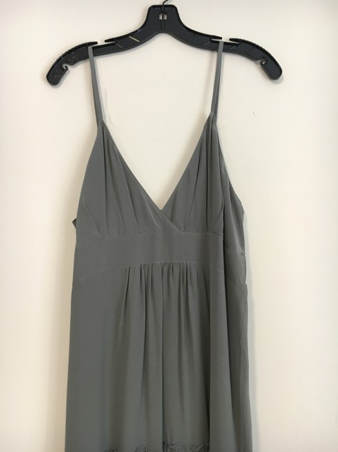 Grey Silk Maxi Dress by Gold Hawk Eyelet Maxi