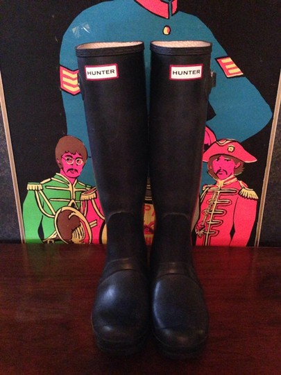 Hunter Rain Wellies Navy matte Boots