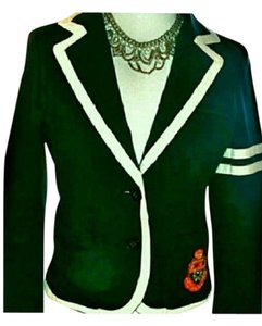 PINK Preppy Schoolboy Navy Blue and White Blazer