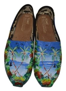 TOMS Art Haiti Classic One-of-a-kind Handpainted Multi-color Flats