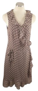 Michael Kors short dress Brown Wrap Print Silk on Tradesy