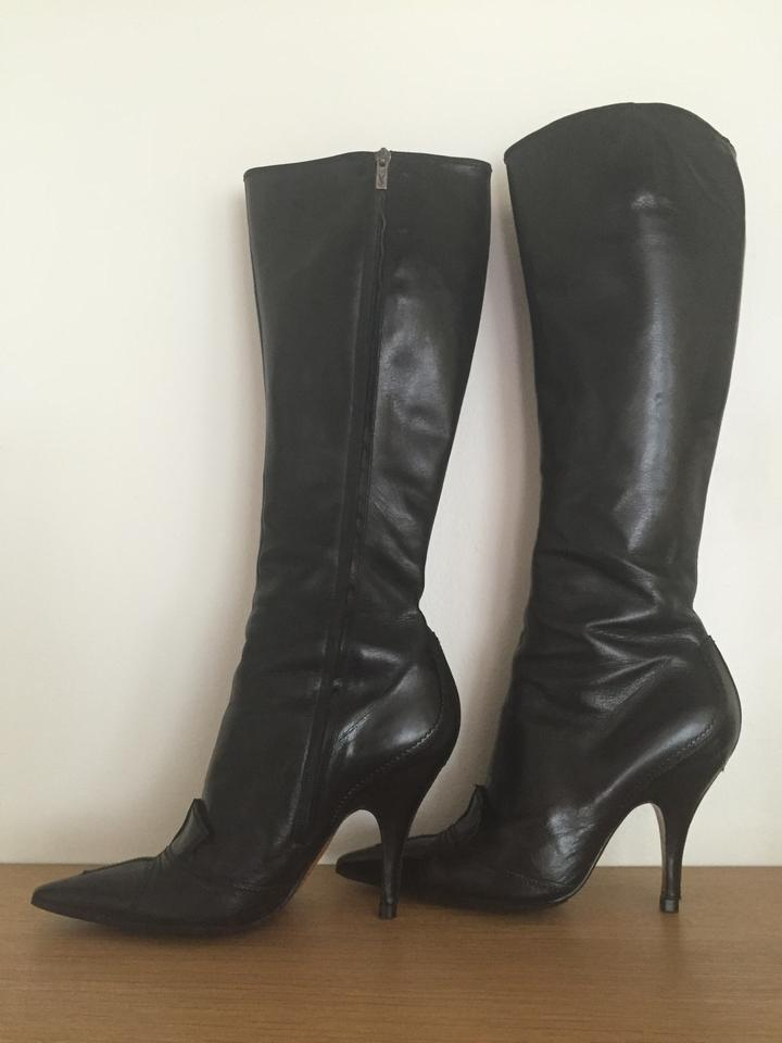 6c96a7e4 Saint Laurent Black Tom Ford Vintage 2000 Stiletto Boots/Booties Size US  8.5 Narrow (Aa, N) 75% off retail