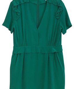 Sandro Silk Ruffle Dress