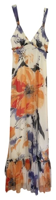 Item - White Floral Long Casual Maxi Dress Size 2 (XS)