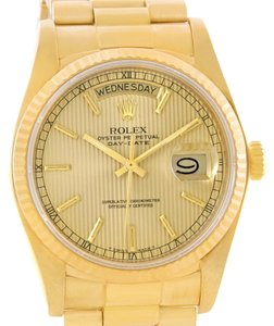 Rolex Rolex President Day-Date 18k Yellow Gold Tapestry Dial Watch 18038