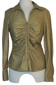 Lafayette 148 New York Leather Baige beige leather Jacket