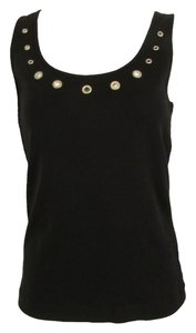 Joan Vass Cut Out Summer Top Black