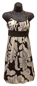 Grass Collection short dress Brown White and Olive on Tradesy