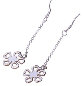 Other Sterling Silver 925 Daisy Flower Dangle Chain Earrings J2292