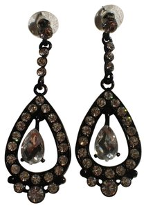 Other New Black Rhinestone pierced earrings