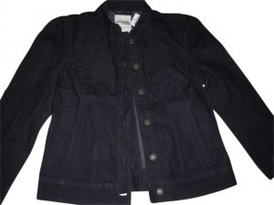 Charlotte Russe Dark Denim Womens Jean Jacket