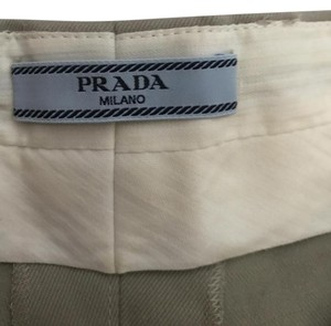 Prada Dressed Size 38 Cuffed Shorts Khaki