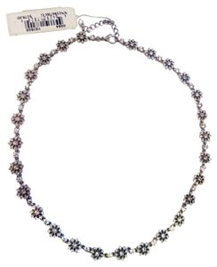Nadri Flower Snowflake Crystal Necklace