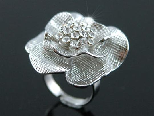 Other 3D Rose Swarovski Crystal Flower Ring
