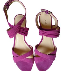 Talbots Pink Suede Wedge Comfortable purple Sandals