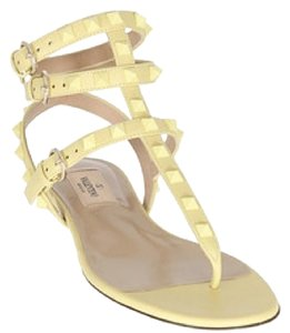 Valentino Pastel Yellow Sandals