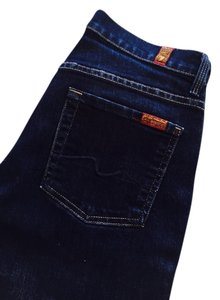 7 For All Mankind Denim High-waist Boot Cut Jeans-Dark Rinse