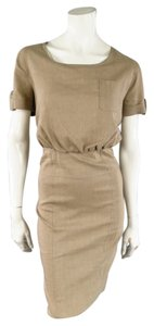 Burberry Linen Wool Cream Spring Dress