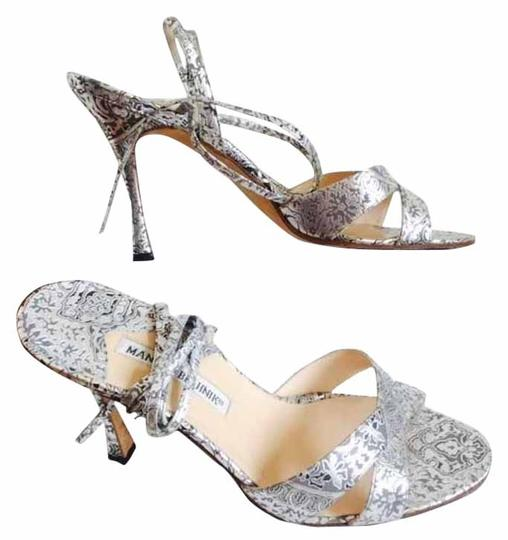 Preload https://item2.tradesy.com/images/manolo-blahnik-silver-grey-and-black-sandals-size-us-10-regular-m-b-14015851-0-1.jpg?width=440&height=440