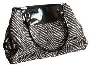 Kate Spade Tote in Black Herringbone